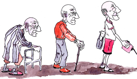 Sarcopenia cartoon